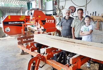 Italian family firewood business boosts profits with LT70 sawmill