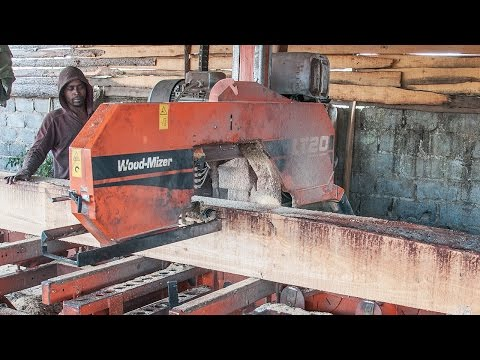 Lt40 Sawmill Cuts Structural Timber In Africa Wood Mizer